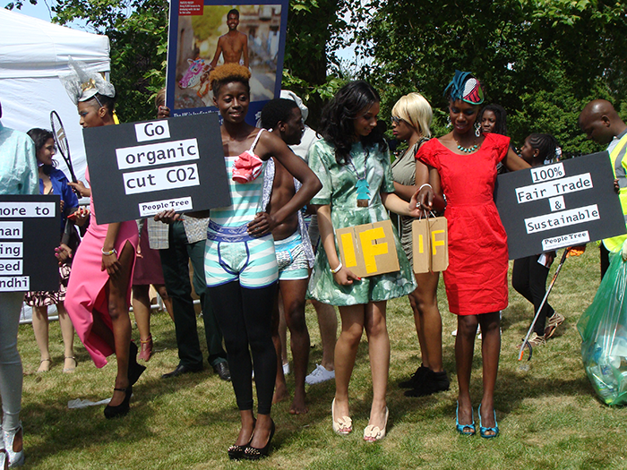 Models wear People Tree at the BigIF Campaign