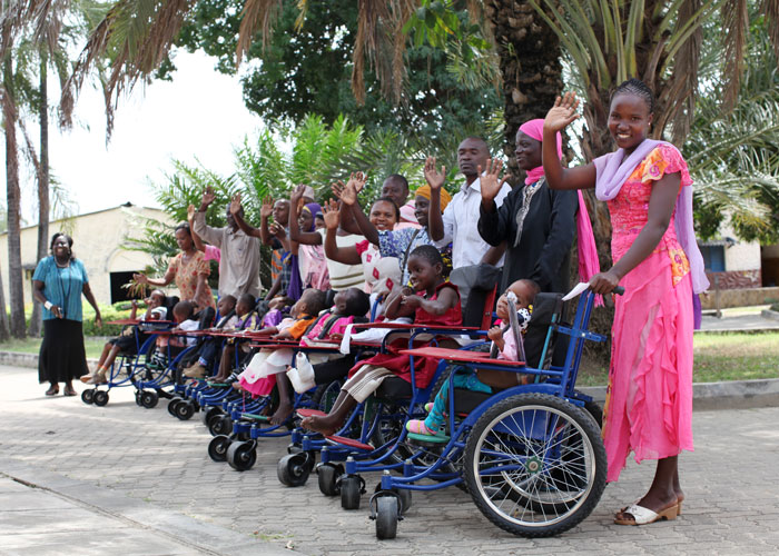 Children in Kenya receive new wheelchairs from People Tree