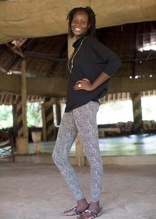 People Tree's AW13 Collection worn by a beautiful woman in Kenya