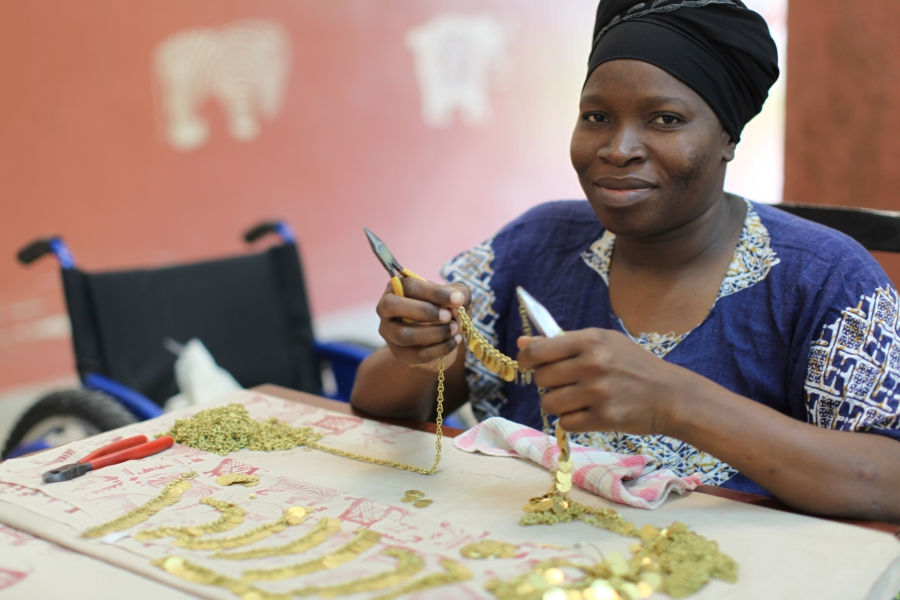 Some of our jewellery is made at Bombolulu - a social business that pays a fair wage to all of it's workers.