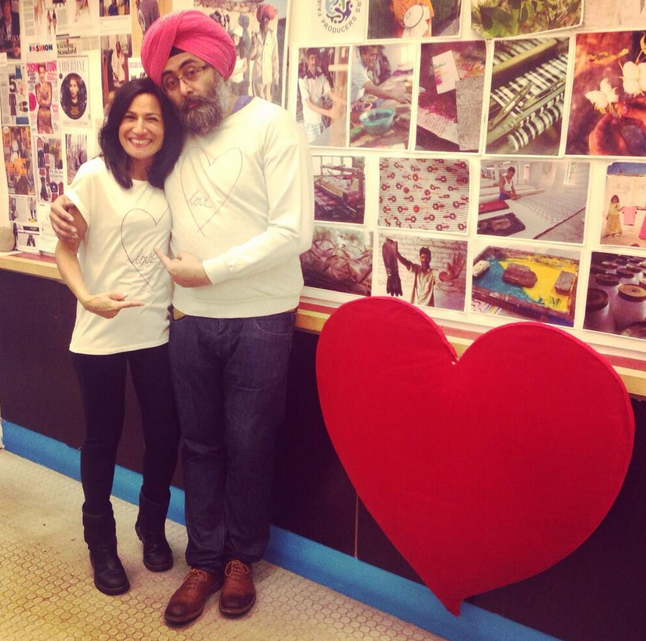 Safia Minney and Hardeep Singh Kholi share the love this Valentines Day.