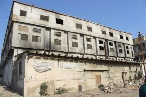 Burnt out factory, Baldia, Pakistan