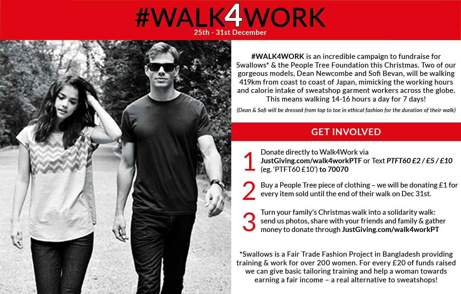 #WALK4WORK Dean & Sofi's Interview with People Tree