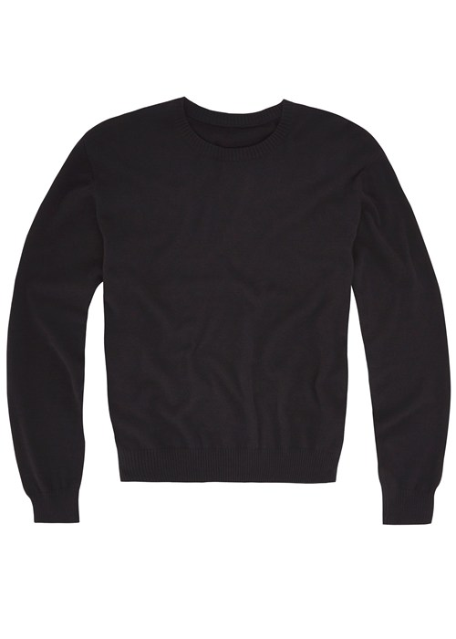 Ethan Fine Knit Jumper in Black