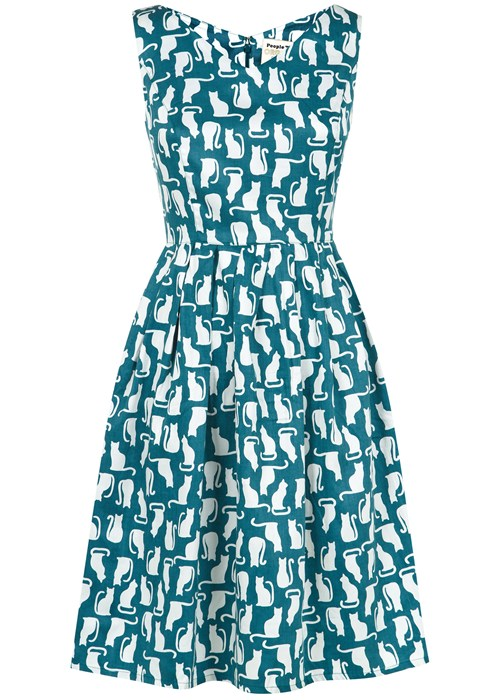 juliette-cat-print-flared-dress-in-teal-18db1e9d2ace