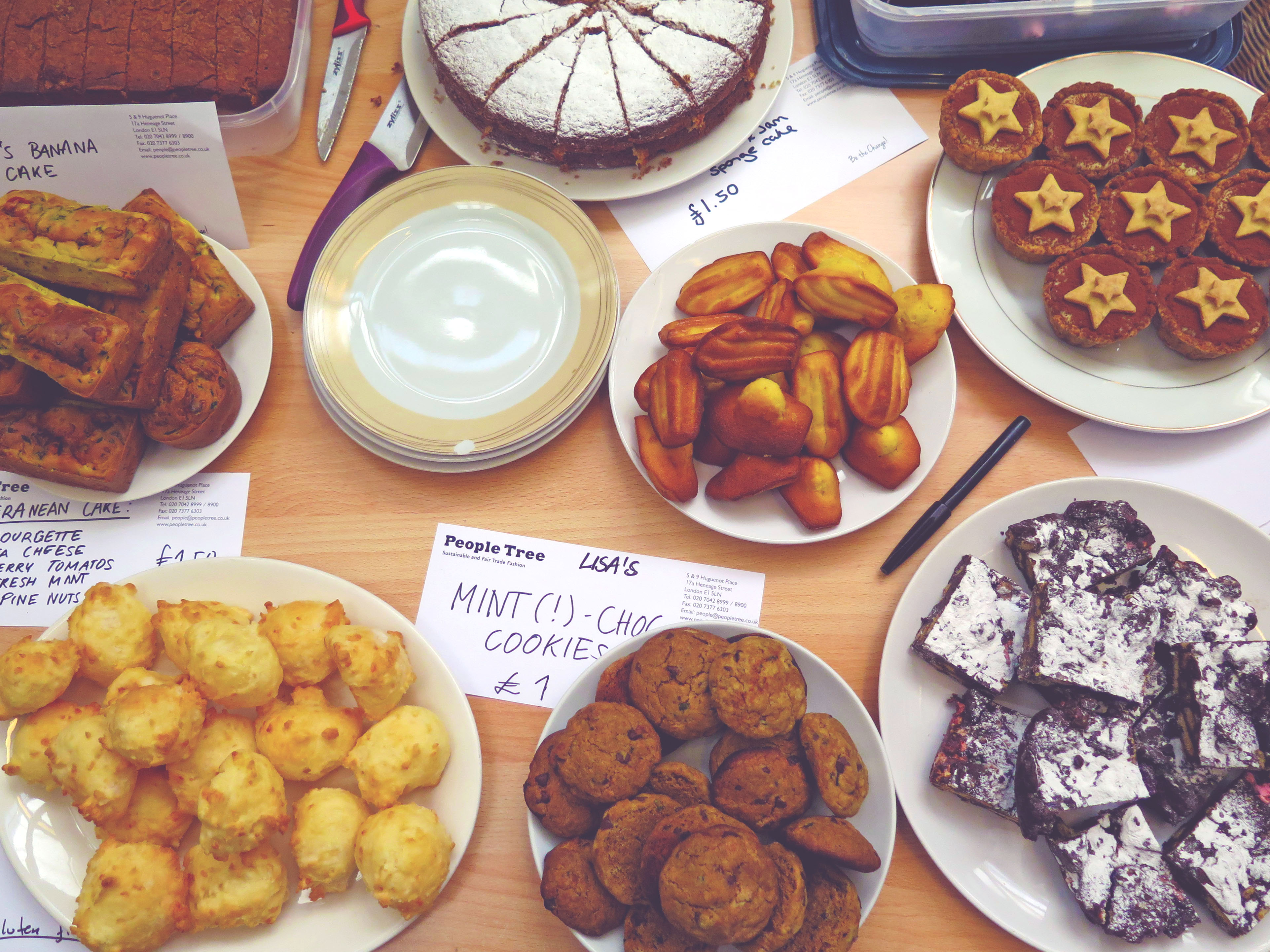 The People Tree bakesale, in pictures