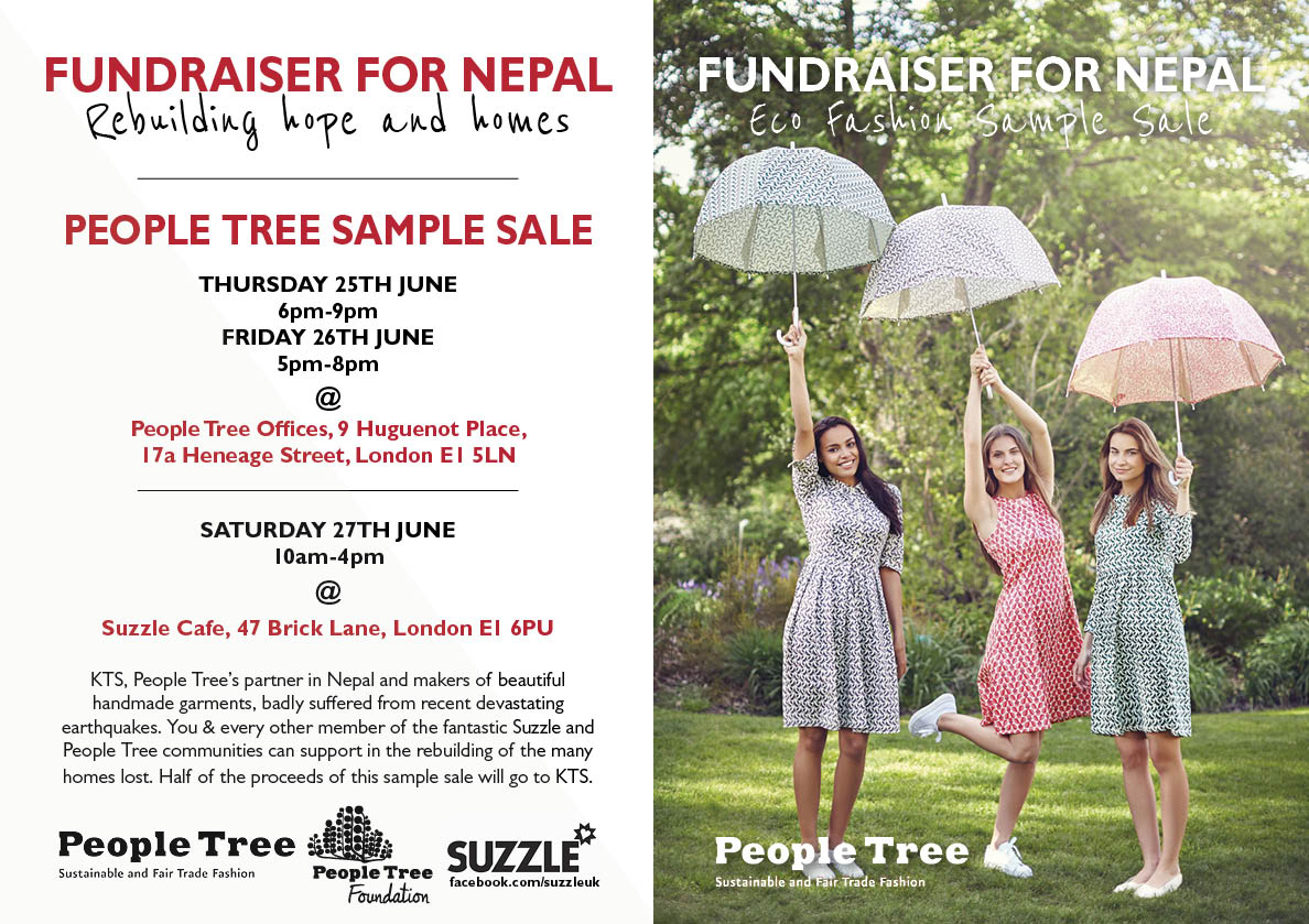 People Tree Sample Sale with Suzzle to raise money for Nepal