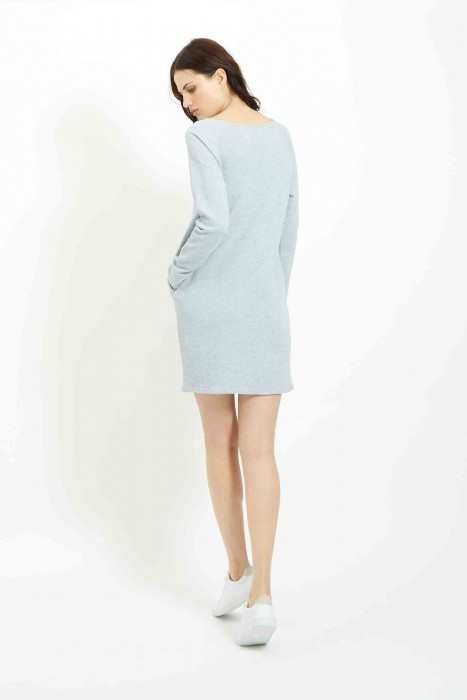 Effie Loopback Dress in Blue £68 €95 back