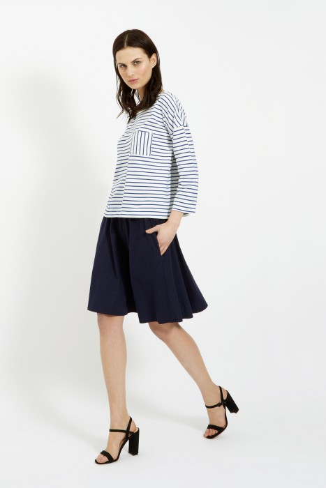 The Elba Stripe Top in Blue