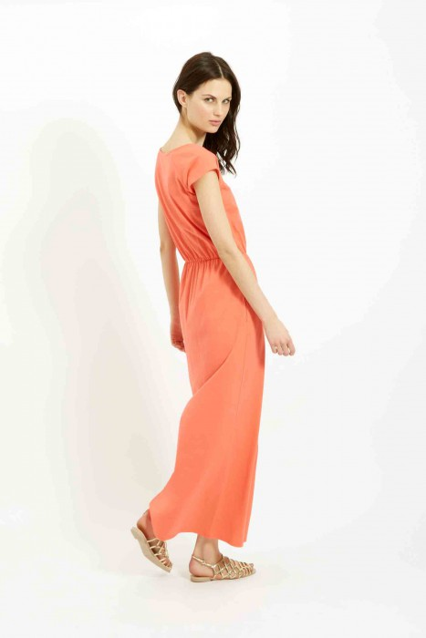 Marie maxi dress in Coral £68 €95 back